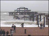 The latest collapse of the West Pier