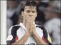 Michael Ballack shows his feelings