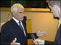 Robert Kilroy-Silk is interviewed on his Brussels visit