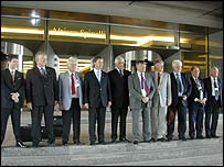 The UKIP team in Brussels on Wednesday