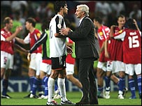 Michael Ballack and Germany coach Rudi Voeller