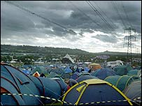 Tents at Glastonbury Festival