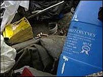 Rubbish left by fly-tipping