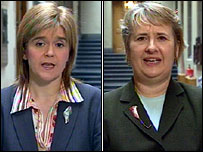 Nicola Sturgeon (l) and Roseanna Cunningham