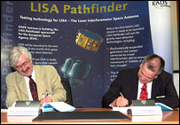 Contract signing, EADS-Astrium