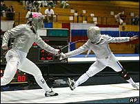 Sparring World Cup women's team sabre Grand Prix of Fencing