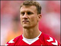 Denmark striker Ebbe Sand