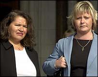 Lorraine Hadley and Natallie Evans