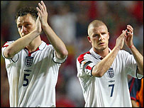 John Terry (l) and David Beckham
