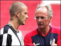 David Beckham (left) and Sven-Goran Eriksson