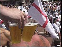Beer and England flag