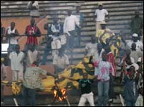 Asec fans rioting
