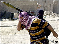 Armed militant in Falluja