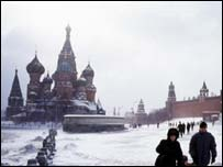 St Basil's cathedral in Moscow, BBC