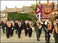 The body had originally barred Orangemen from walking down