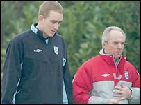 Liverpool keeper Chris Kirkland and Sven-Goran Eriksson