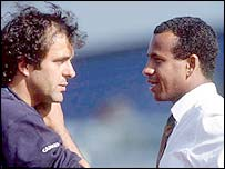Former French greats Michel Platini and Jean Tigana
