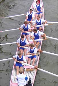 Rowers take the torch on board