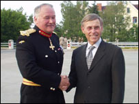 Major General Sir Peter Wall and Wilhelm Zeller