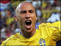Sweden striker Henrik Larsson is heading for Barcelona