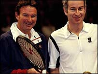 Jimmy Connors with John McEnroe