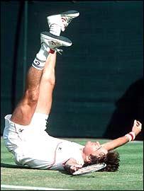 Jimmy Connors winning Wimbledon in 1984