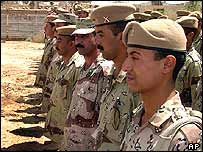 Recruits to Iraq's security forces