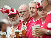 Denmark fans enjoy their time in Portugal