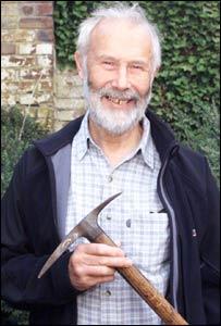 Sir Chris Bonnington with the axe