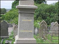 The grave of Daniel Jones