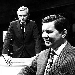 Kenneth Kendall and Richard Baker