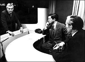 Kenneth Kendall, Richard Baker and Robert Dougall