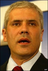 Boris Tadic after winning Serbian presidential election