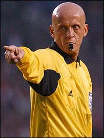 Italian referee Pierluigi Collina