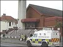 Gamble caused £5,000 of damage to the church