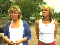 Becky Measures (right) with her mother Wendy Watson