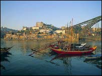 Historic Port boats in Oporto