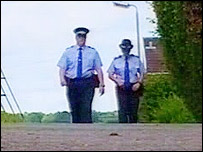 Police patrolling estate in Nelson near Caerphilly
