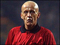Italian referee Pierluigi Collina