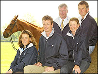(Left ro right) Pippa Funnell, William Fox-Pitt, Yogi Breisner, Sarah Cutteridge, Leslie Law