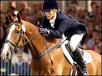 Zara Phillips in action at Burghley last year
