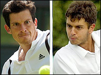 Tim Henman (left) and Mario Ancic