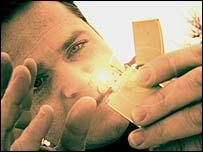 Morten Kjolberg with lighter