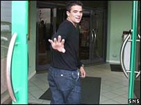 Nacho Novo arrives at Celtic Park