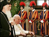 Pope and Patriarch at the Vatican