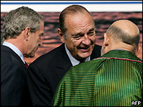 President Bush and President Chirac