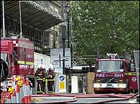 Photo of firefighters on active service