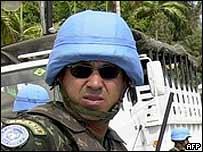 Brazilian peacekeepers in Haiti