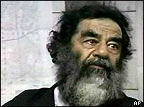 Saddam Hussein in US captivity