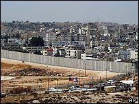 The separation barrier around al-Ram, near Jerusalem